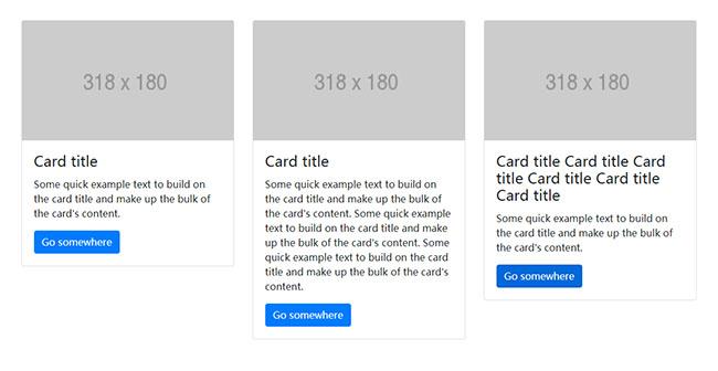 bootstrap卡片图文列表布局