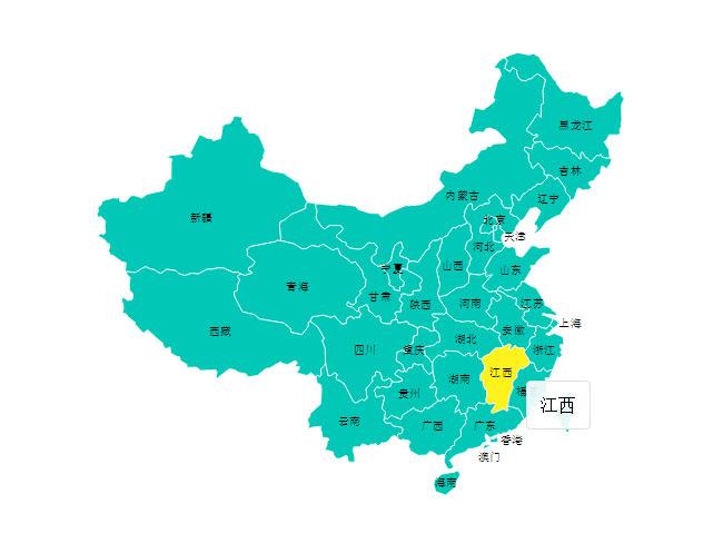 jQuery使用SVG中国地图各省份