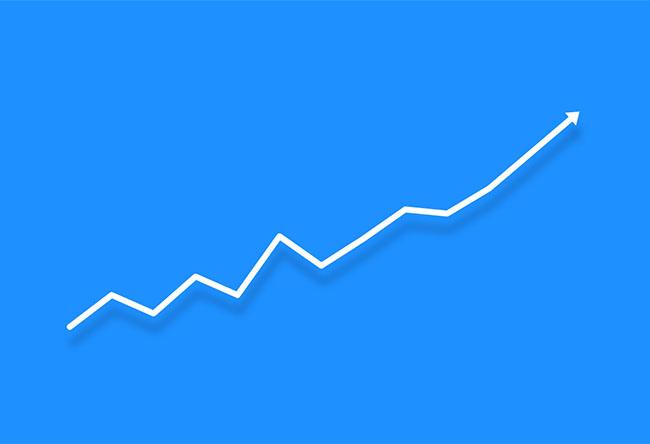 HTML5 SVG业绩稳步上升动画