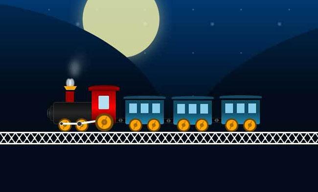纯CSS3铁轨上列车动画