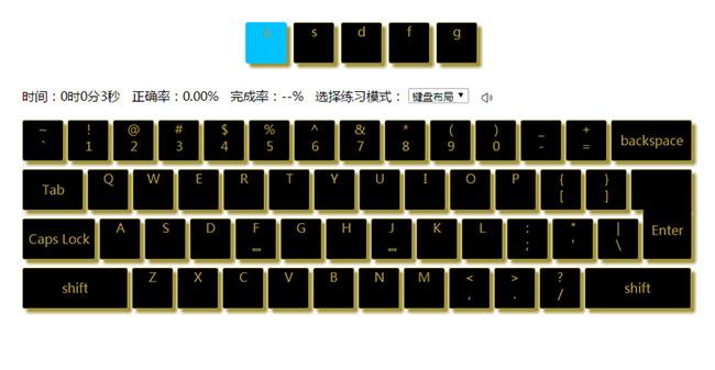 jQuery键盘打字练习游戏