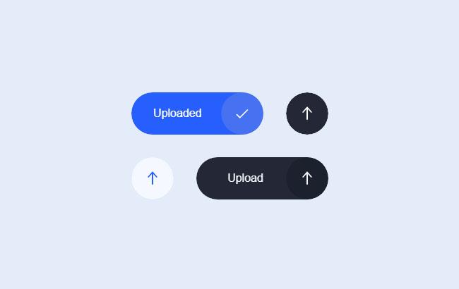 HTML5上传按钮UI动画