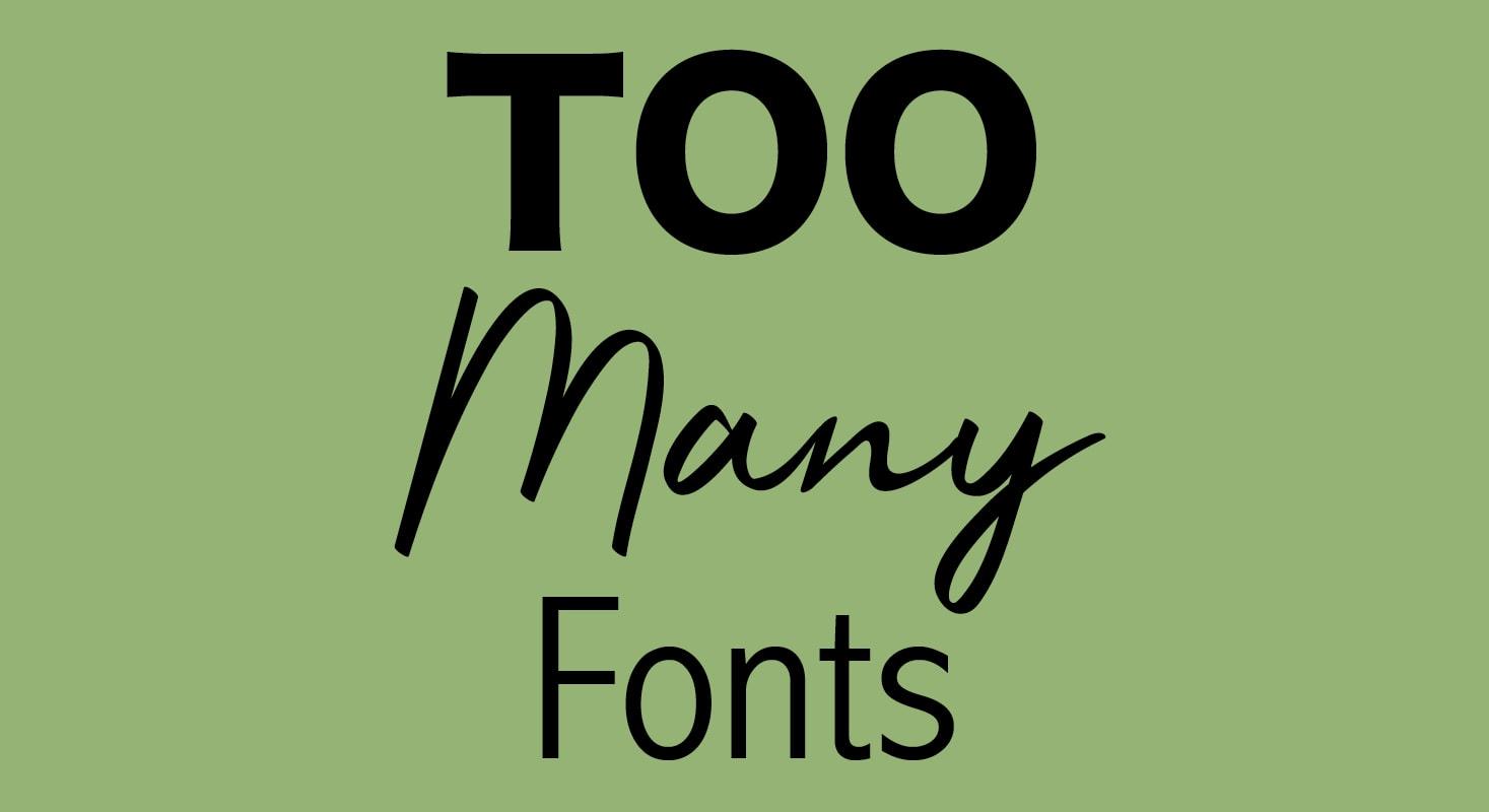 关于字体你必须停止的8件事情