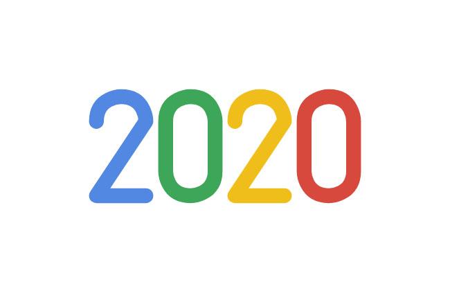 仿谷歌2020数字SVG动画特效