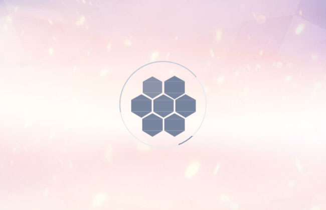 蜂巢六边形加载动画